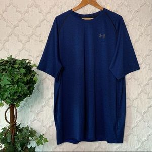 Under Armour Heat Gear Loose Fit Blue Tee 3XLT
